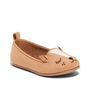 Old Navy Baby Fox Face Faux Suede Flats S-5
